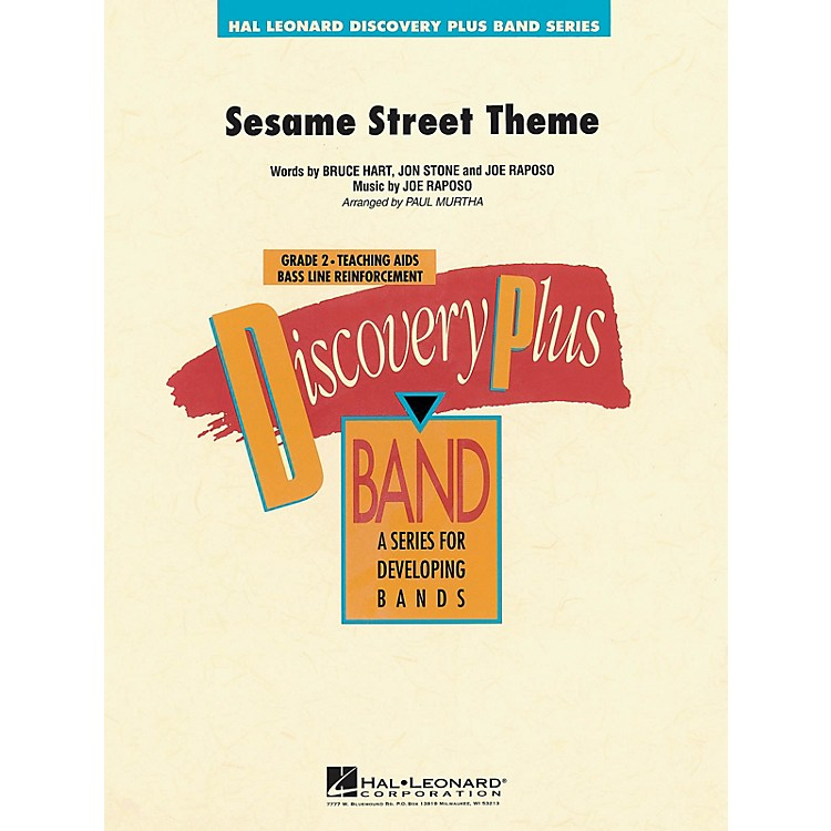 Hal Leonard Sesame Street Theme - Discovery Plus Concert Band Series Level 2 arranged by Paul Murtha