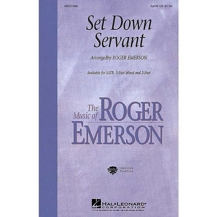 Hal Leonard Set Down, Servant (3-Part Mixed) 3-Part Mixed Arranged by Roger Emerson