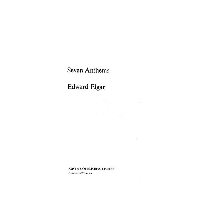 NovelloSeven Anthems Composed by Edward Elgar