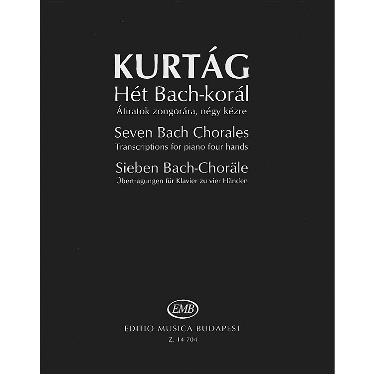 Editio Musica BudapestSeven Bach Chorales (Transcriptions for Piano, 4 Hands) EMB Series Softcover by Johann Sebastian Bach