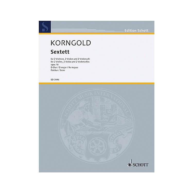 SchottSextet D Major Op. 10 (Study Score) Schott Series Composed by Erich Wolfgang Korngold