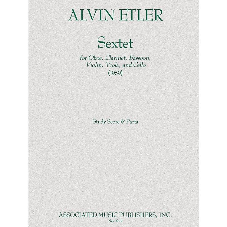 AssociatedSextet Ob/bn/vn/va/vc Parts 1959 Ensemble Series by Alvin Etler
