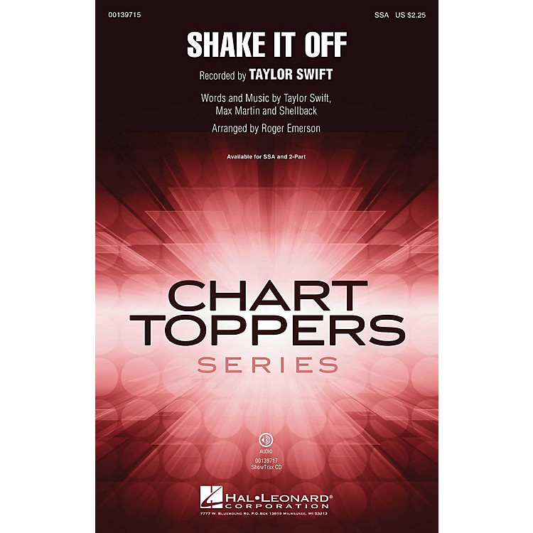Hal Leonard Shake It Off SSA by Taylor Swift arranged by Roger Emerson