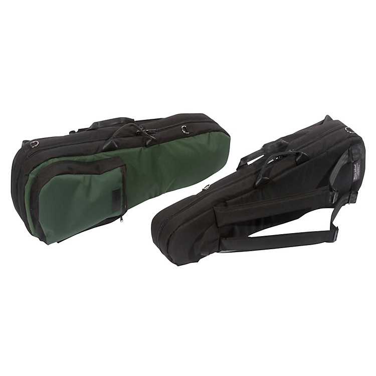Mooradian Shaped Viola Case Slip-On Cover Green with Backpack Straps