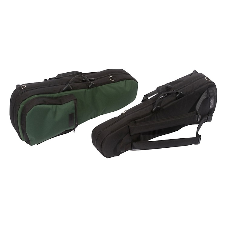 MooradianShaped Viola Case Slip-On CoverGreen with Backpack Straps