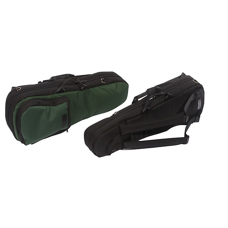 Mooradian Shaped Viola Case Slip-On Cover Green with Shoulder Strap