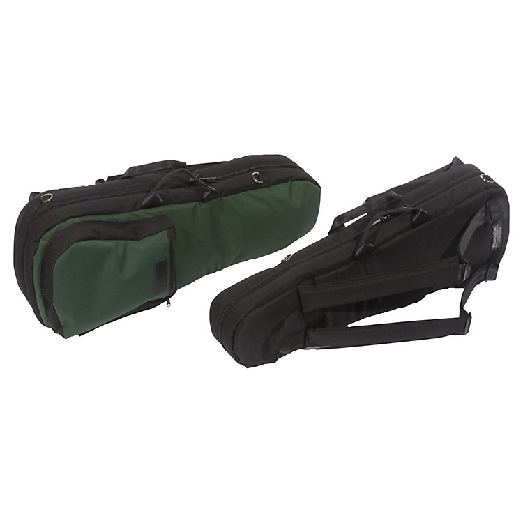 Mooradian Shaped Viola Case Slip-On Cover with Combination Straps Green