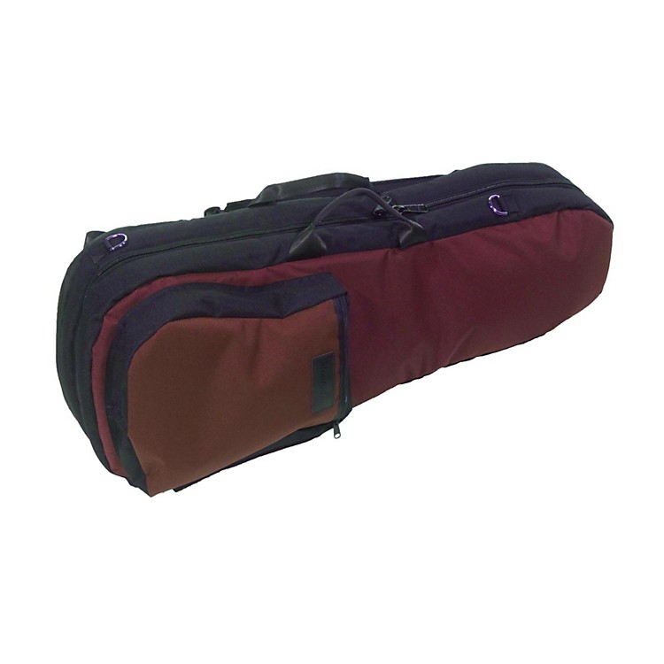 Mooradian Shaped Violin Case Slip-On Cover Burgundy with Backpack Straps