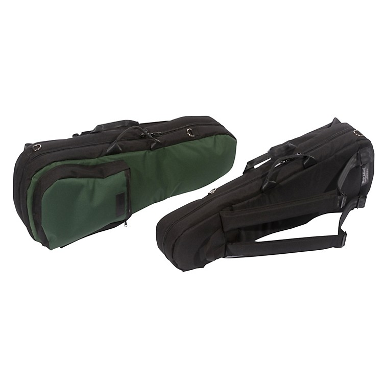 Mooradian Shaped Violin Case Slip-On Cover Green with Backpack Straps