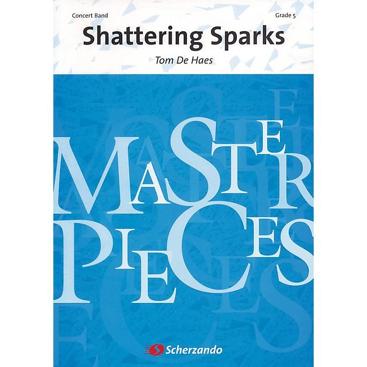 ScherzandoShattering Sparks Full Score Concert Band Level 5 Composed by Tom de Haes