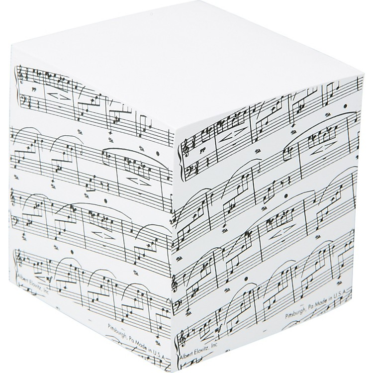 AIM Sheet Music Memo Cube