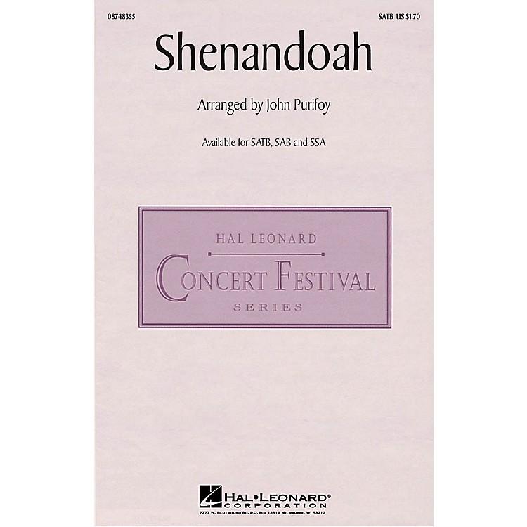 Hal LeonardShenandoah SATB arranged by John Purifoy