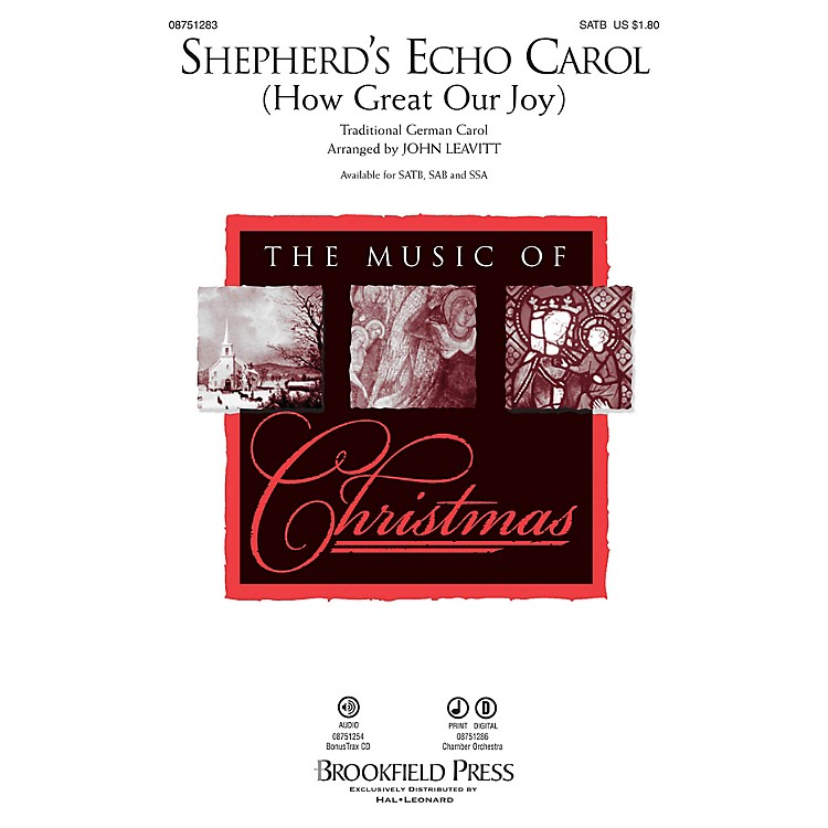 Brookfield Shepherd's Echo Carol (How Great Our Joy) CHAMBER ORCHESTRA ACCOMP Arranged by John Leavitt