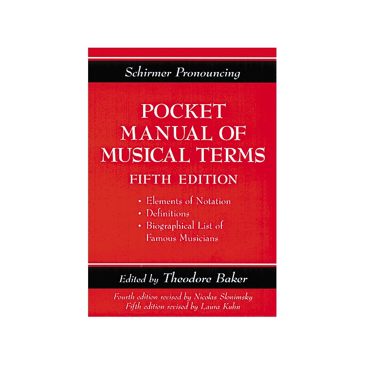 Music SalesShirmer Pronouncing Pocket Manual of Musical Terms
