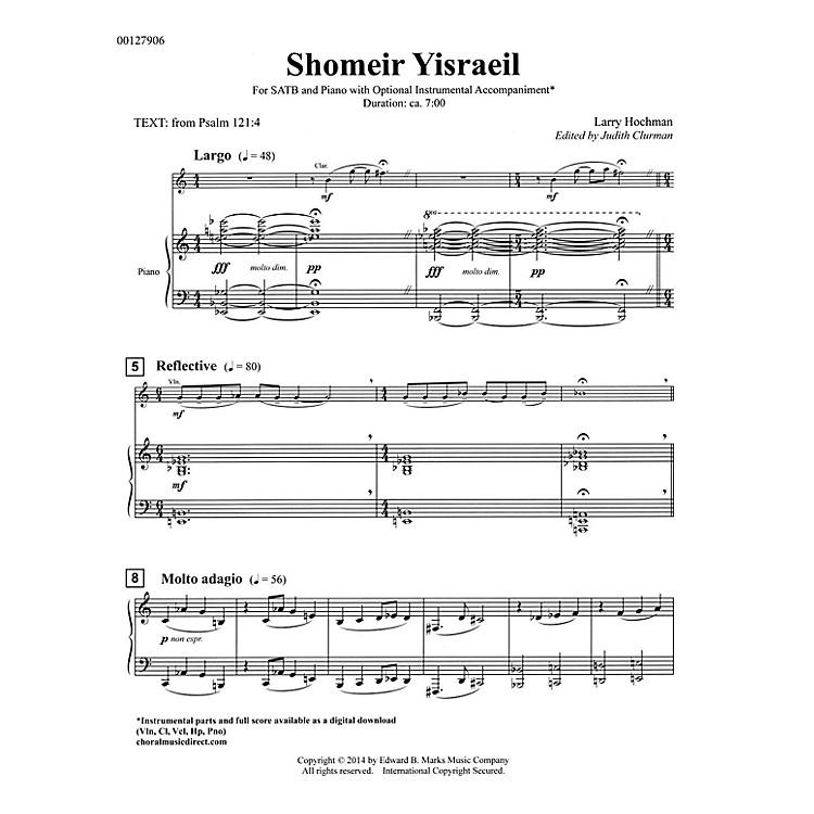 Edward B. Marks Music CompanyShomeir Yisraeil (Guardians of Israel) SATB Composed by Larry Hochman Edited by Judith Clurman