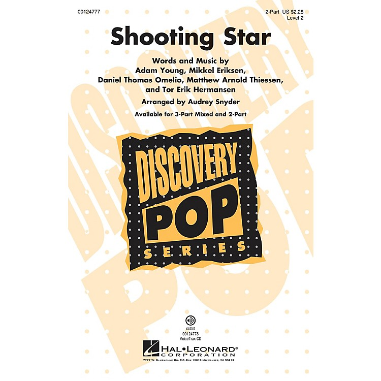Hal LeonardShooting Star (Discovery Level 2) 2-Part arranged by Audrey Snyder