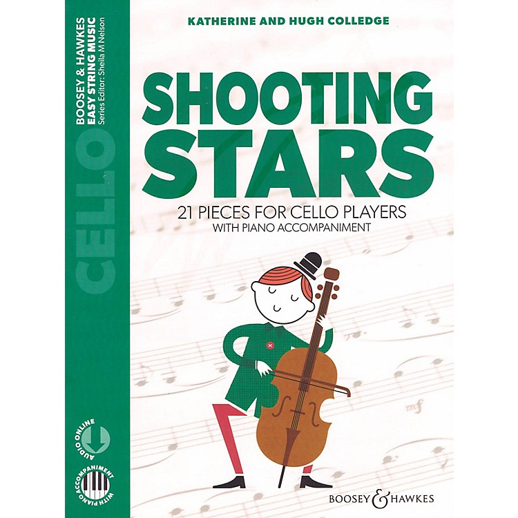 Boosey and HawkesShooting Stars 21 Pieces for Cello Players Cello with Piano Accompaniment Book/Audio Online