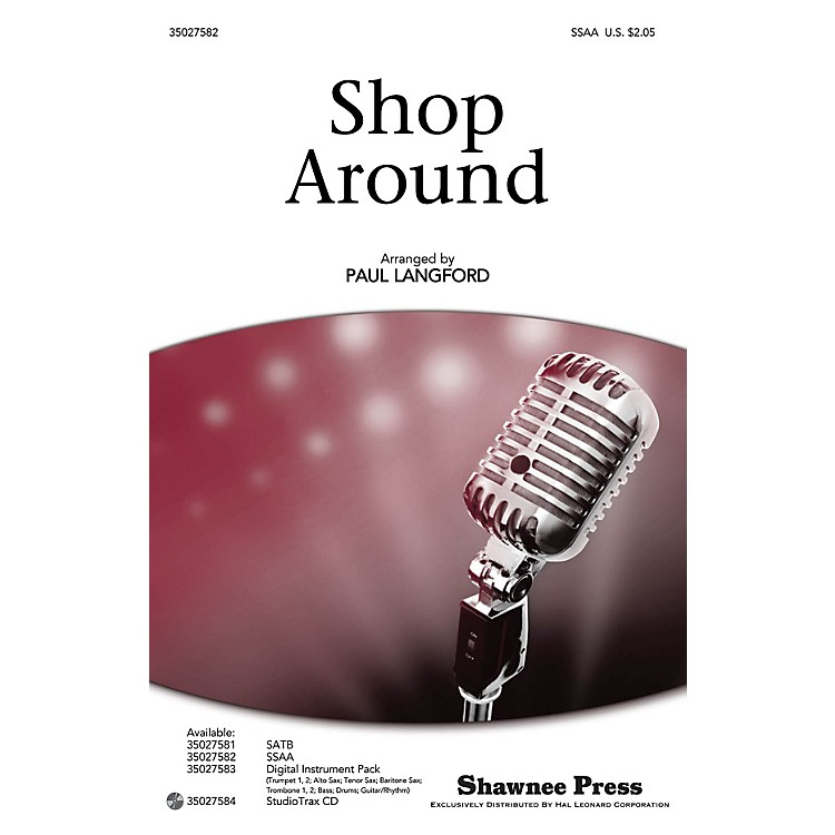 Shawnee PressShop Around SATB by The Miracles arranged by Paul Langford