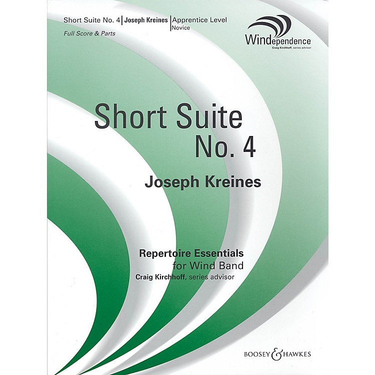 Boosey and HawkesShort Suite No. 4 (Score Only) Concert Band Composed by Joseph Kreines