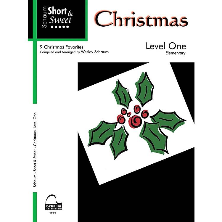 SCHAUMShort & Sweet: Christmas (Level 1 Elem Level) Educational Piano Book