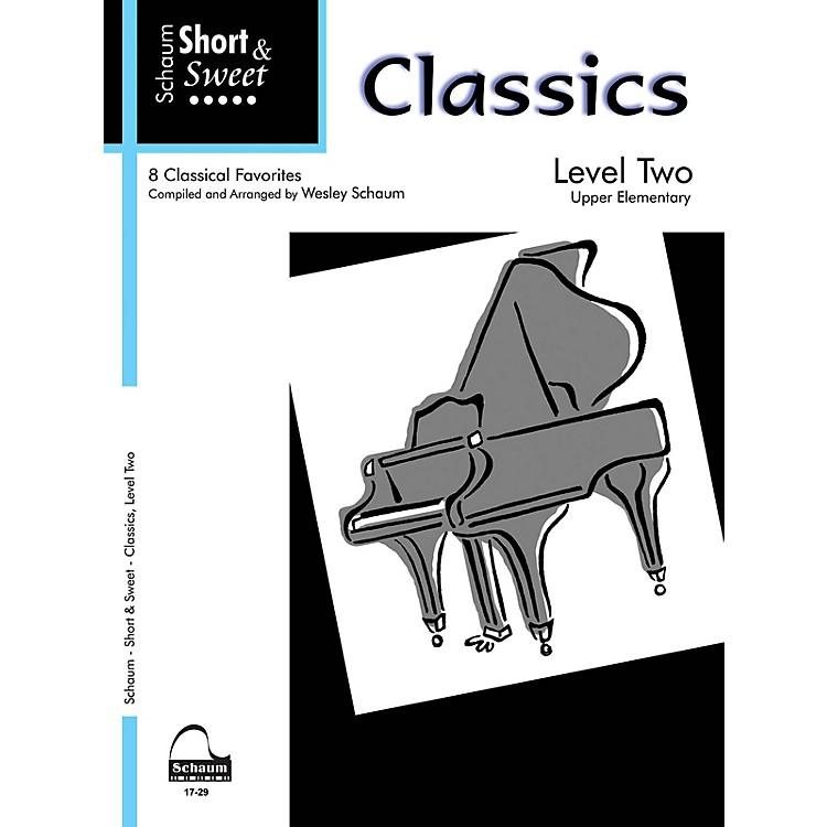 SCHAUMShort & Sweet: Classics (Level 2 Upper Elem Level) Educational Piano Book
