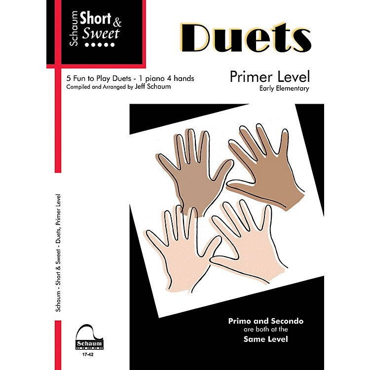 SCHAUMShort & Sweet: Duets Educational Piano Book (Level Early Elem)