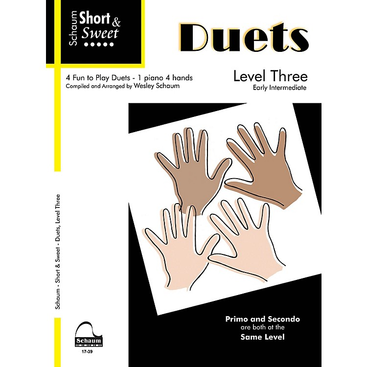 SCHAUMShort & Sweet: Duets Educational Piano Book (Level Early Inter)
