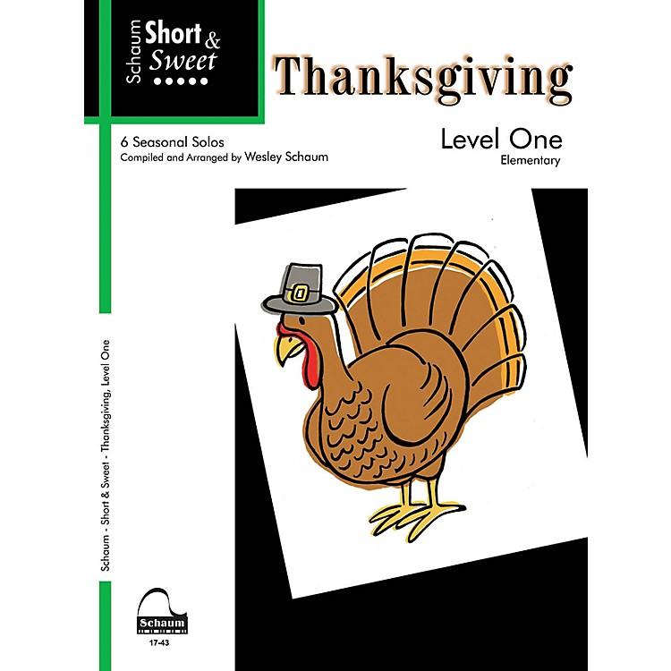 SCHAUMShort & Sweet: Thanksgiving (Level 1) Educational Piano Book (Level Elem)