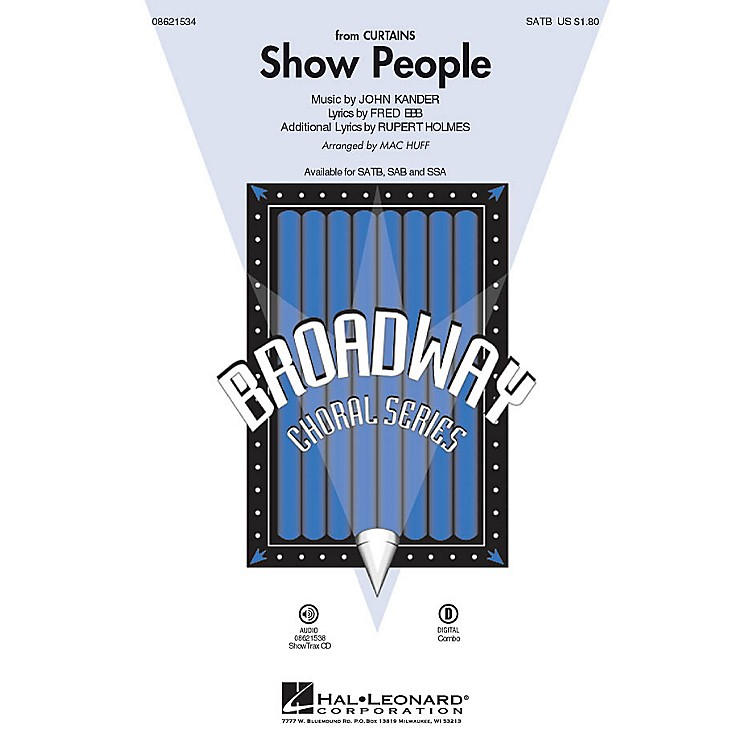 Hal LeonardShow People (from Curtains) ShowTrax CD Arranged by Mac Huff