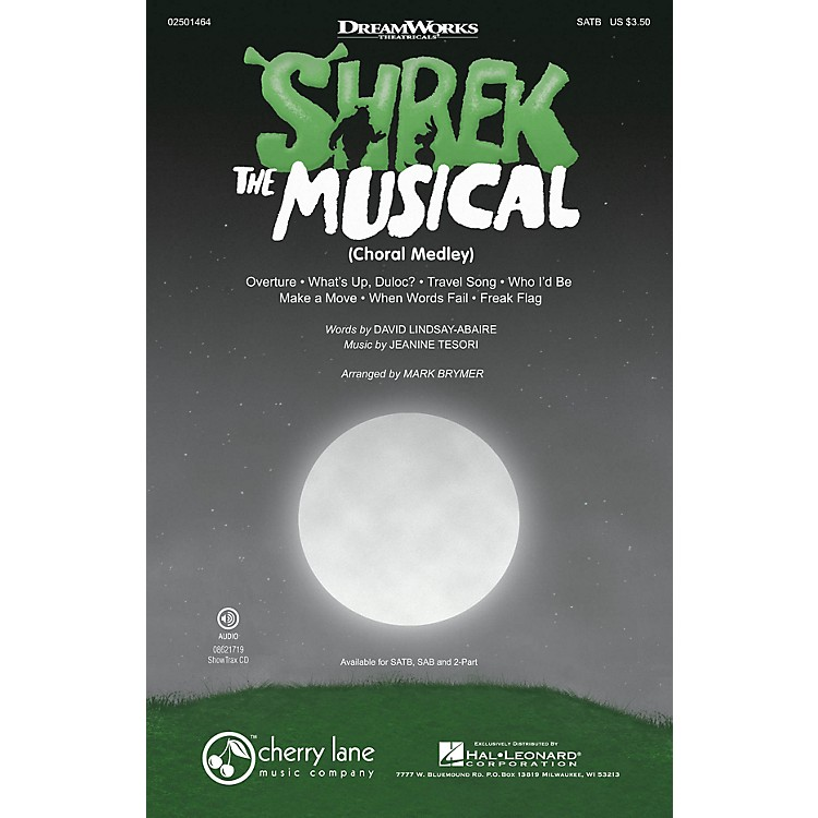 Cherry LaneShrek: The Musical (Choral Medley) SAB Arranged by Mark Brymer