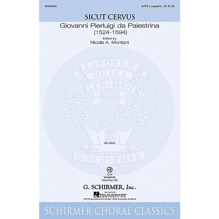 G. SchirmerSicut Cervus SATB composed by Giovanni Palestrina