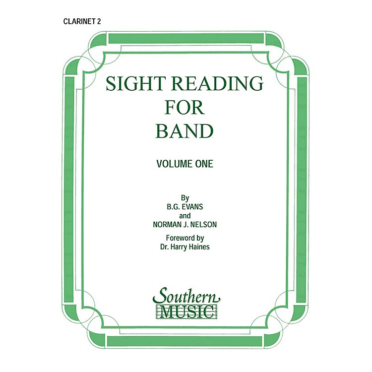 SouthernSight Reading for Band, Book 1 (Clarinet 2) Southern Music Series Composed by Billy Evans