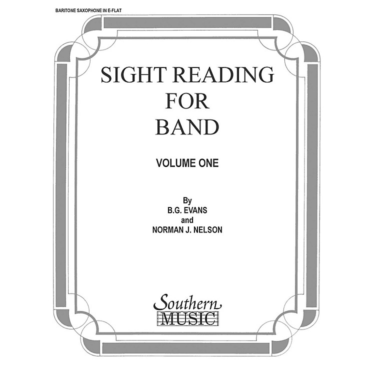 Southern Sight Reading for Band, Book 1 (E-Flat Baritone Saxophone) Concert Band Level 2 Composed by Billy Evans