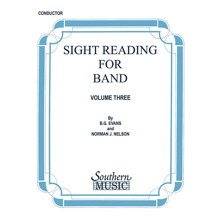 SouthernSight Reading for Band, Book 3 (Alto Sax 1) Southern Music Series  by Billy Evans