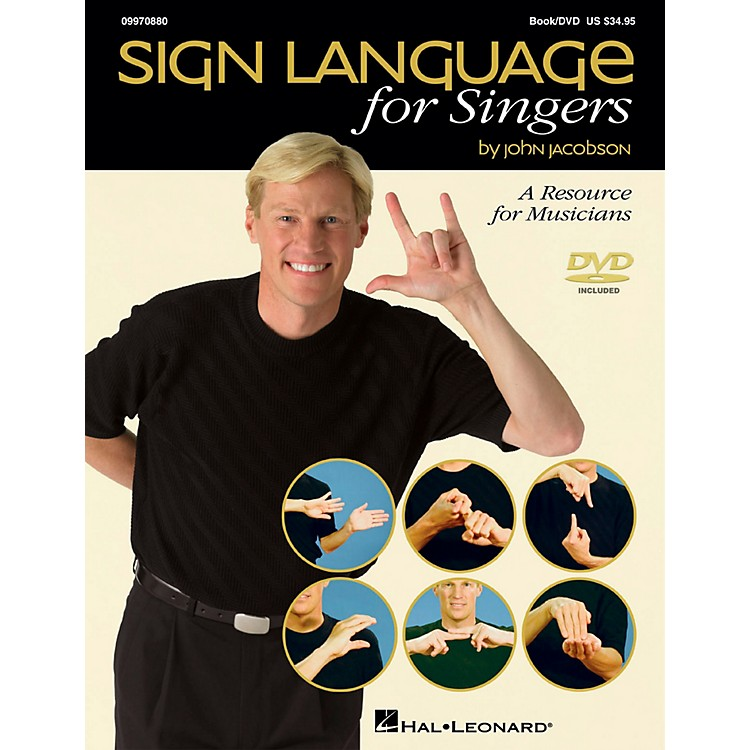 Hal Leonard Sign Language For Singers - A Resource for Musicians Book/DVD
