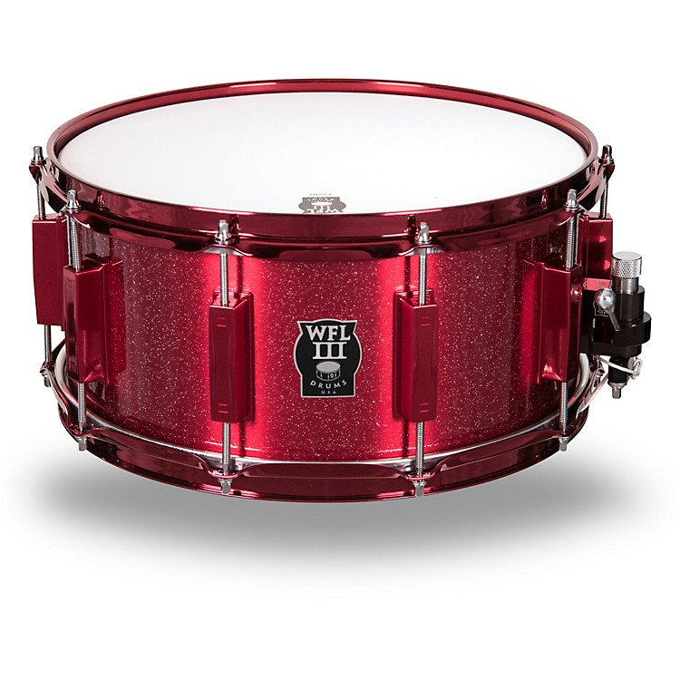 WFLIII DrumsSignature Metal Snare Drum with Red Hardware14 x 6.5 in.Rockin' Red