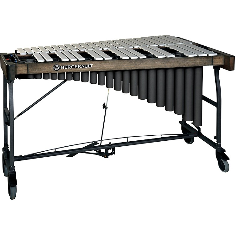 Bergerault Signature Series Vibraphone, 3.0 Octaves Silver Finish Aluminum Bars Concert Frame with Motor