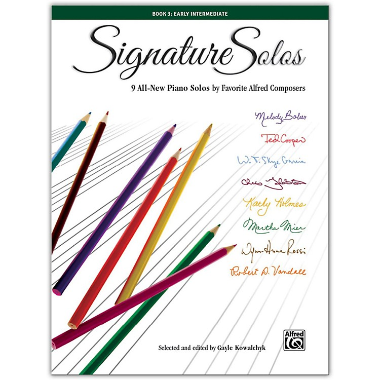 Alfred Signature Solos, Book 3 Early Intermediate