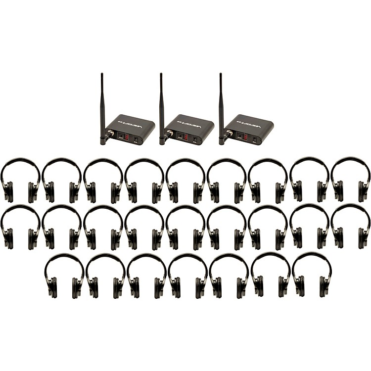VocoPro Silent Disco 325 Package with 25 Headphones