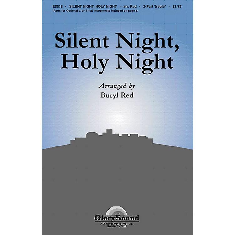 Shawnee PressSilent Night, Holy Night 2-Part arranged by Buryl Red