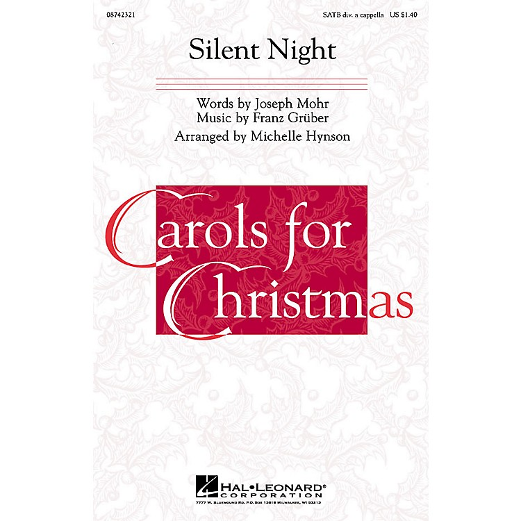 Hal Leonard Silent Night SATB DV A Cappella arranged by Michelle Hynson