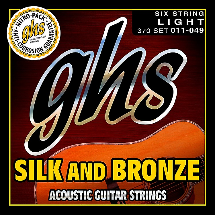 GHSSilk and Bronze Acoustic Guitar Strings Regular