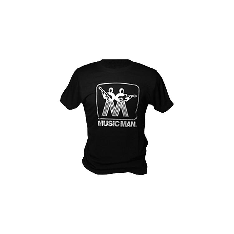 Ernie Ball Music ManSilver Man Logo T-ShirtBlackMedium