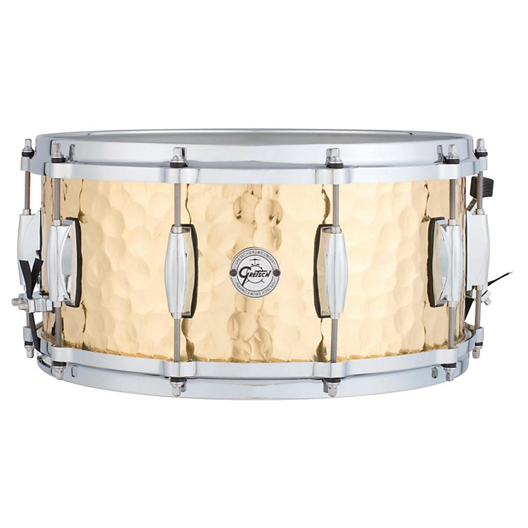 Gretsch Drums Silver Series Hammered Brass Snare Drum 14 x 6.5