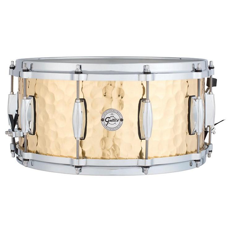 Gretsch DrumsSilver Series Hammered Brass Snare Drum14 x 6.5