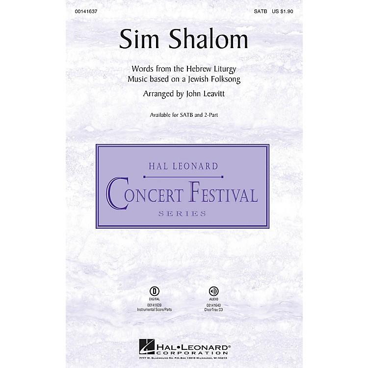 Hal LeonardSim Shalom 2-Part Arranged by John Leavitt