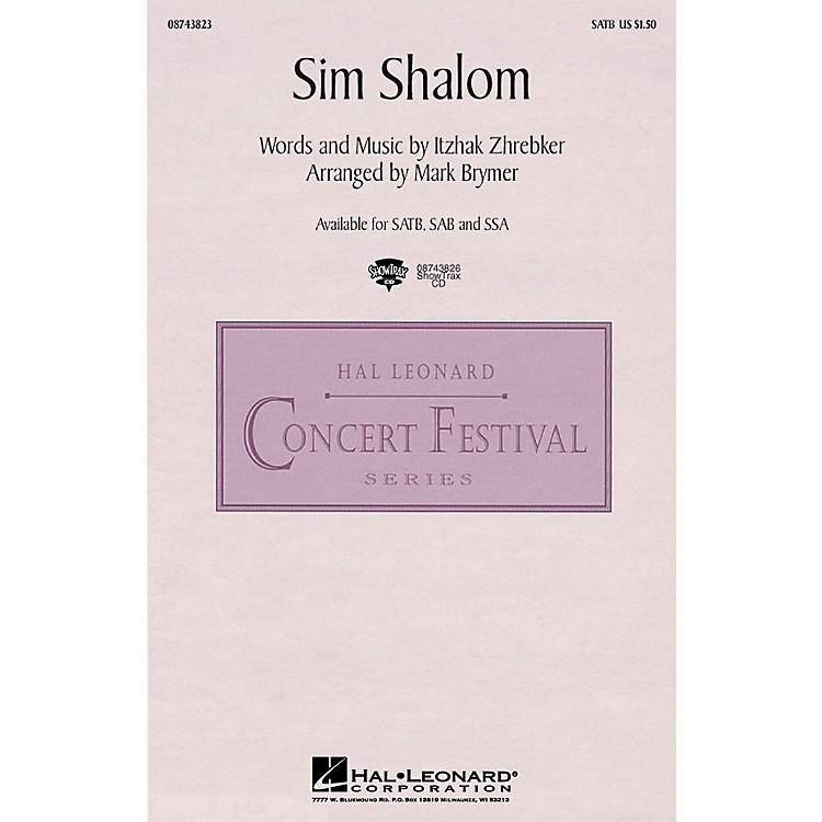 Hal LeonardSim Shalom SATB arranged by Mark Brymer
