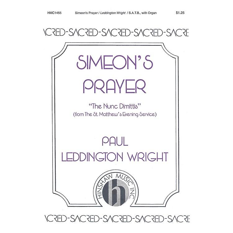 Hinshaw MusicSimeon's Prayer SATB composed by Paul Leddington Wright