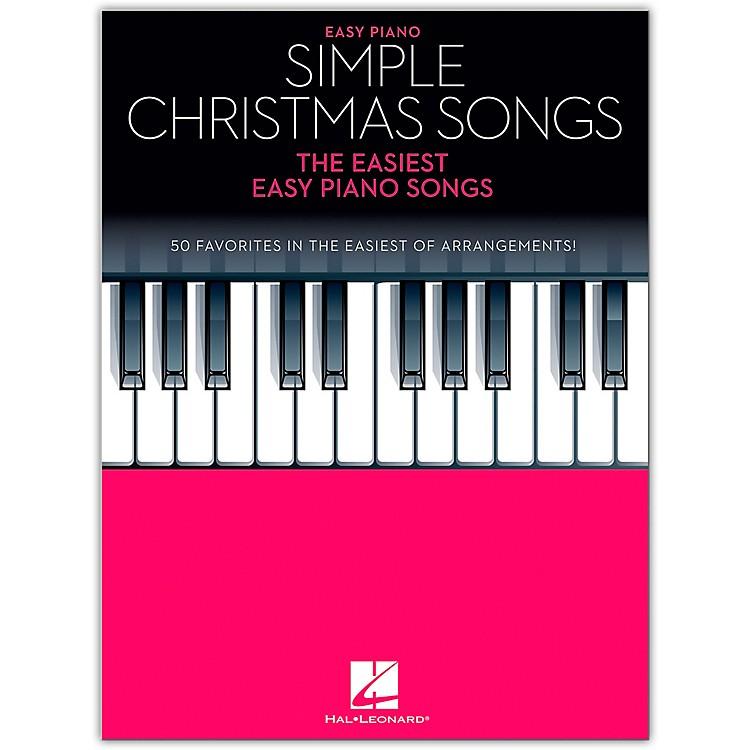Hal LeonardSimple Christmas Songss - The Easiest Easy Piano Songs