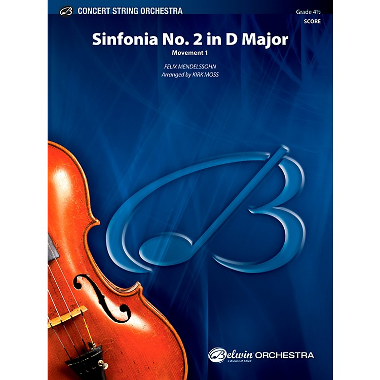 Alfred Sinfonia No. 2 in D Major Concert String Orchestra Grade 4.5 Set